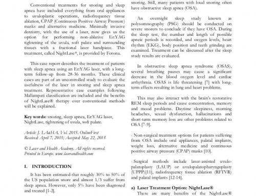 Esettanulmány: NightLase® eljárás – lézeres horkolás és alvási apnoe kezelés